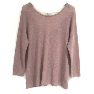 American Eagle Ouffiters pink lace sweater